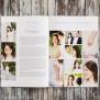 Hochzeitszeitung Polaroid Stil