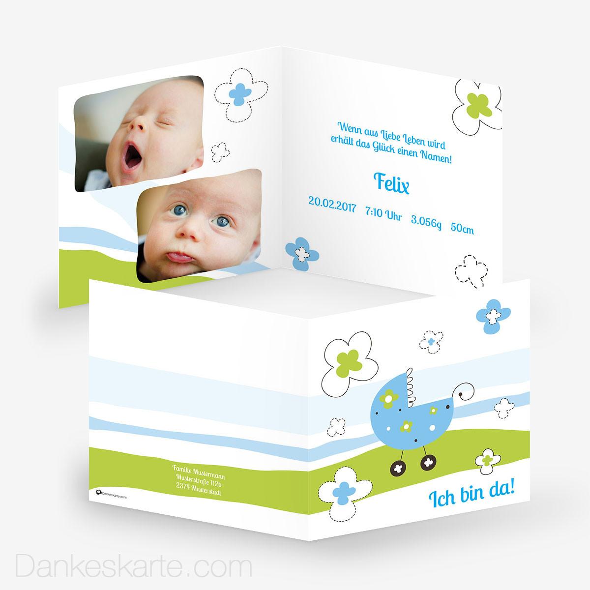 Beaufiful Spruche Babykarte Photos Glueckwunschkarte Geburt Zum