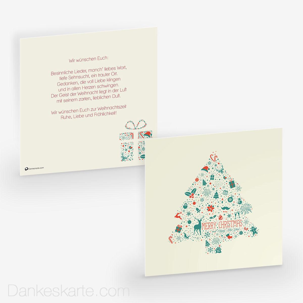 weihnachtskarte wunderbaum 14 5 x 14 5 cm. Black Bedroom Furniture Sets. Home Design Ideas
