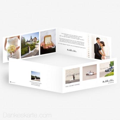 Dankeskarte Klares Design 21 x 10 cm