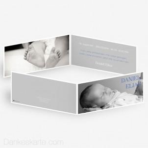 Geburtskarte Taupe 21 x 10 cm