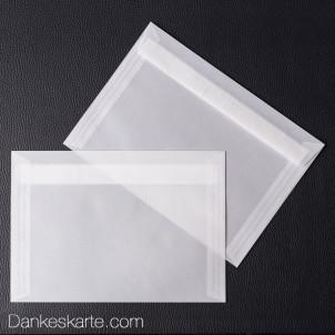 Kuvert transparent für 21 x 15 cm
