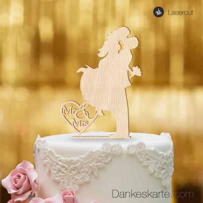 Cake Topper Sprung - Buchenholz - XL