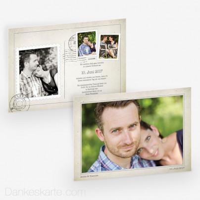 Hochzeitseinladung Vintage Postcard 21 x 15cm