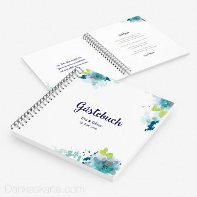 Gästebuch Aquarellblumen