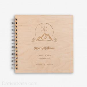 Gästebuch Gipfelstürmer mit Echtholzcover