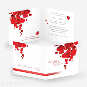 Hochzeitseinladung Heart 14.5 x 14.5 cm