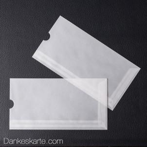 Fingerkuvert transparent für 21 x 10 cm