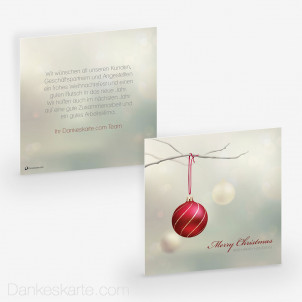 Weihnachtskarte Glittery Tree 14.5 x 14.5 cm
