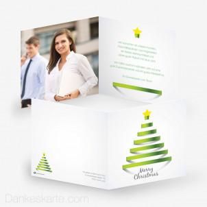 Weihnachtskarte Linetree Business 14.5 x 14.5 cm