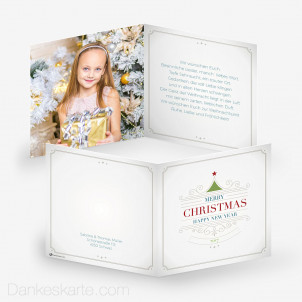 Weihnachtskarte Merry Christmas 14.5 x 14.5 cm