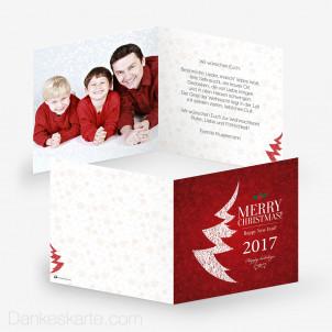 Weihnachtskarte Mesh Tree 14.5 x 14.5 cm