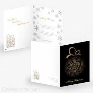 Weihnachtskarte Snowflake Bauble 15 x 21 cm