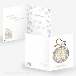 Weihnachtskarte Snowflake Bauble White 15 x 21 cm