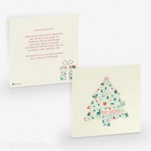 Weihnachtskarte Wunderbaum 14.5 x 14.5 cm
