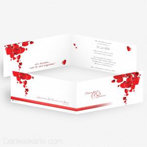 Hochzeitseinladung Heart 21 x 10 cm