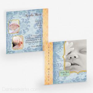 Geburtskarte Aurelia 14.5 x 14.5 cm