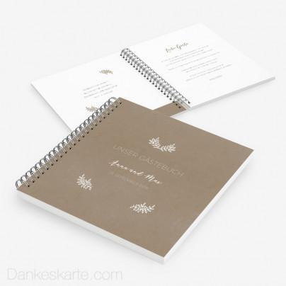 Gästebuch Kraftpapier Eleganz
