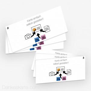 Schraubenkarte Eigenes Design 21 x 10 cm 6-seitig