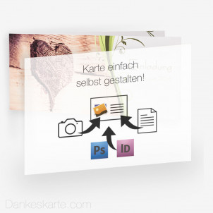 Transparentes Einlegeblatt Eigenes Design 21 x 15 cm