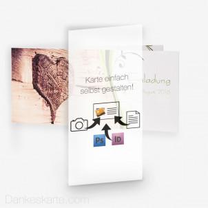 Transparentes Einlegeblatt Eigenes Design 10 x 21 cm