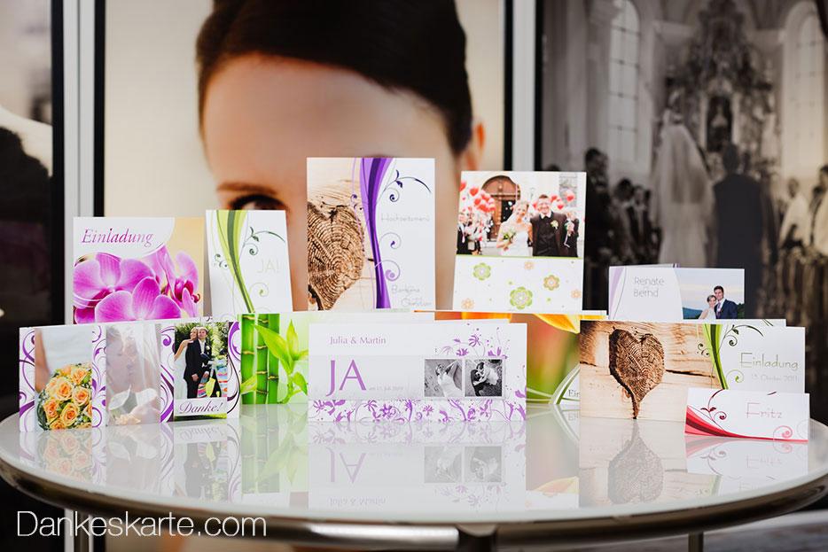 Hochzeitseinladungen und Dankeskarten von Dankeskarte.com