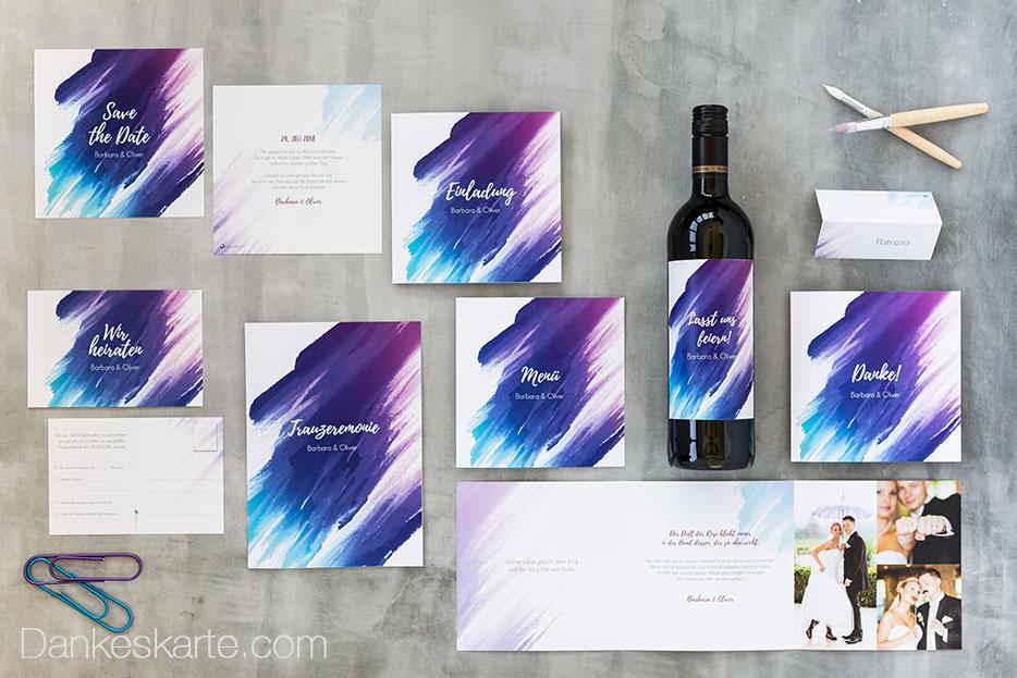 Hochzeitskarten der Art-Collection bei Dankeskarte.com