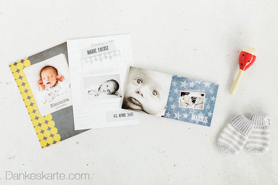 Die Top Babykarten Trends 2017 - Dankeskarte.com