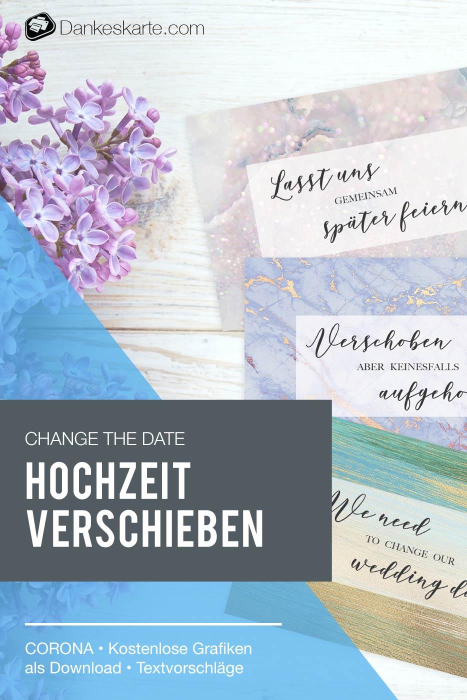 Change the Date - Hochzeit wegen Corona COVID-19 verschieben