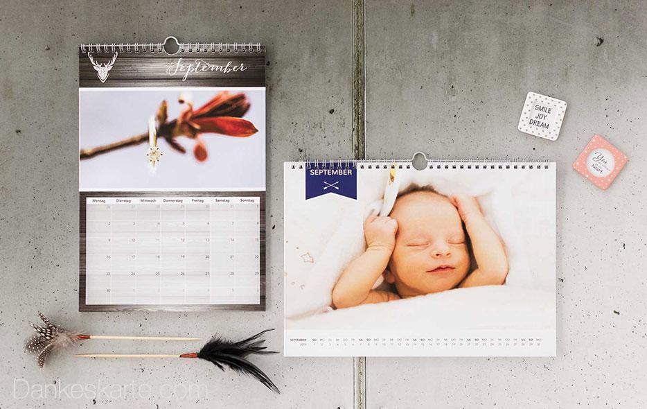 Individuelle Fotokalender - Dein Jahr in Bildern - Dankeskarte.com
