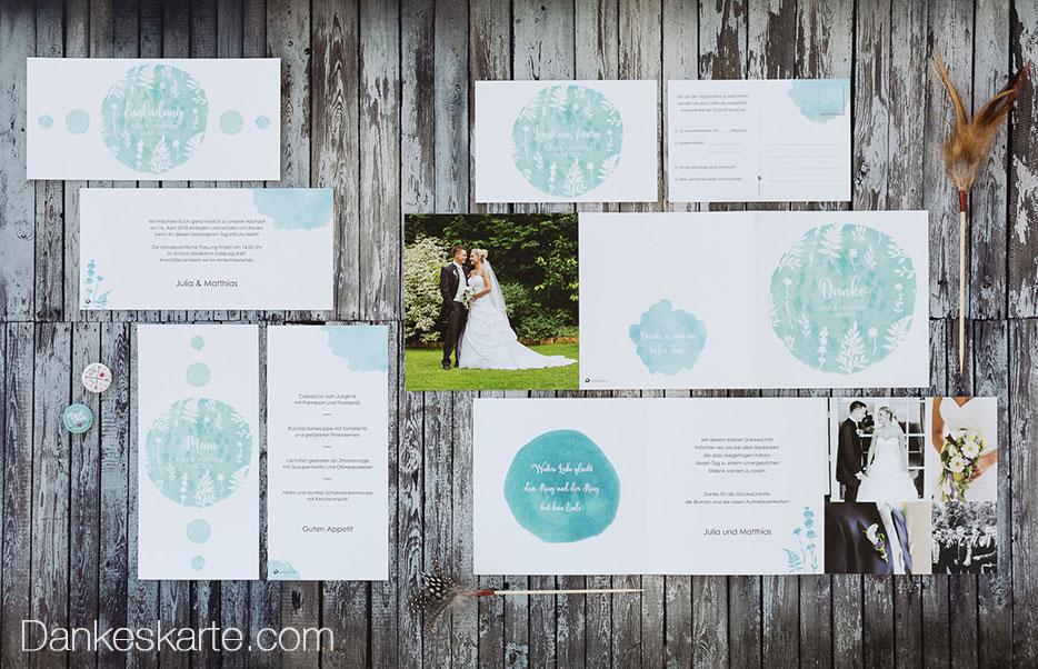 11 Hochzeitseinladungen für deine Frühlingshochzeit - Dankeskarte.com