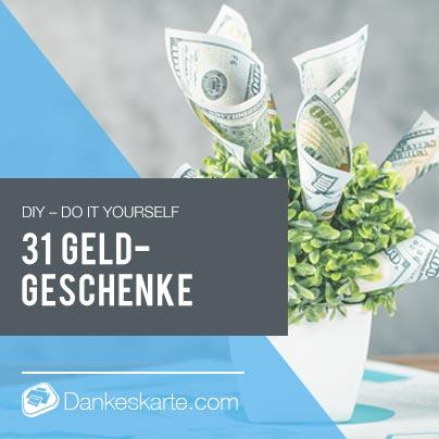 Kreative Geldgeschenke für die Hochzeit- Dankeskarte.com
