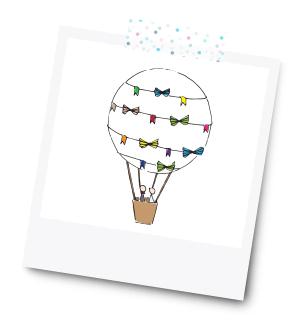Heißluftballon  - 31 Kreative Geldgeschenke für die Hochzeit - Dankeskarte.com