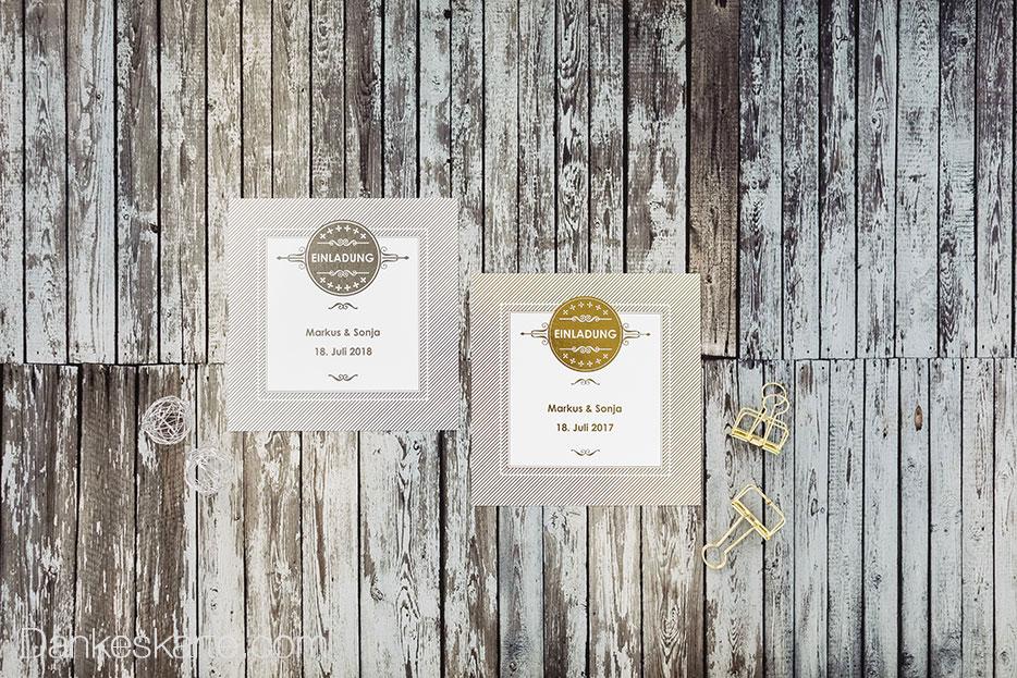 Hochzeitskarten mit Glanzfolienprägung bei Dankeskarte.com