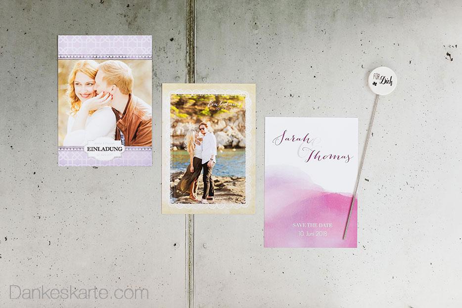 Exklusive Hochzeitseinladungen Bei Dankeskarte.com