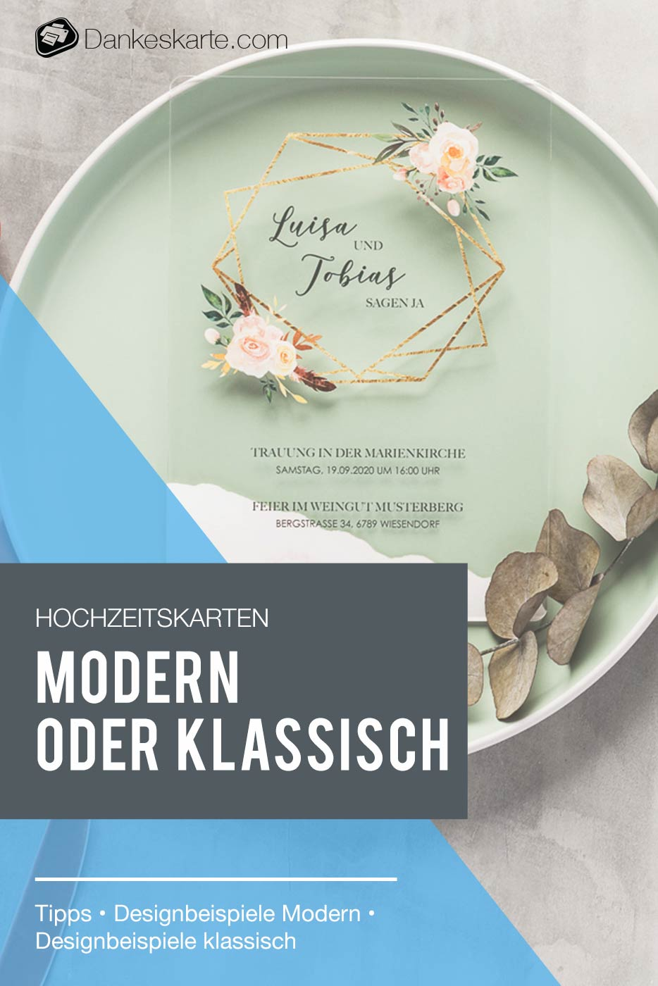 Hochzeitskarten: Modern oder klassisch? - Dankeskarte.com