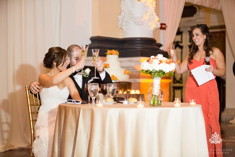 Die Hochzeitsrede des Brautpaars und der Trauzeugen