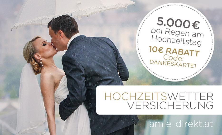 Hochzeitswetter Versicherung mit 10 Euro Bonus