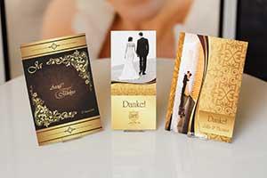 6 Hochzeitseinladungen für Royale Hochzeiten wie von Harry und Meghan - Dankeskarte.com