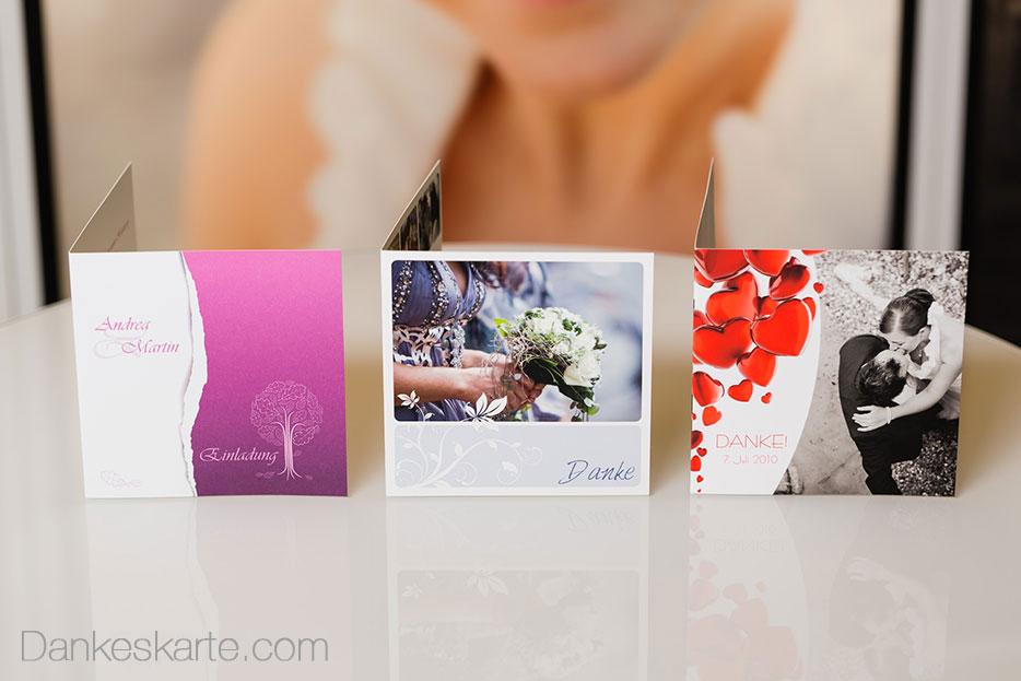 Designs für trachtige Hochzeiten - Dankeskarte.com