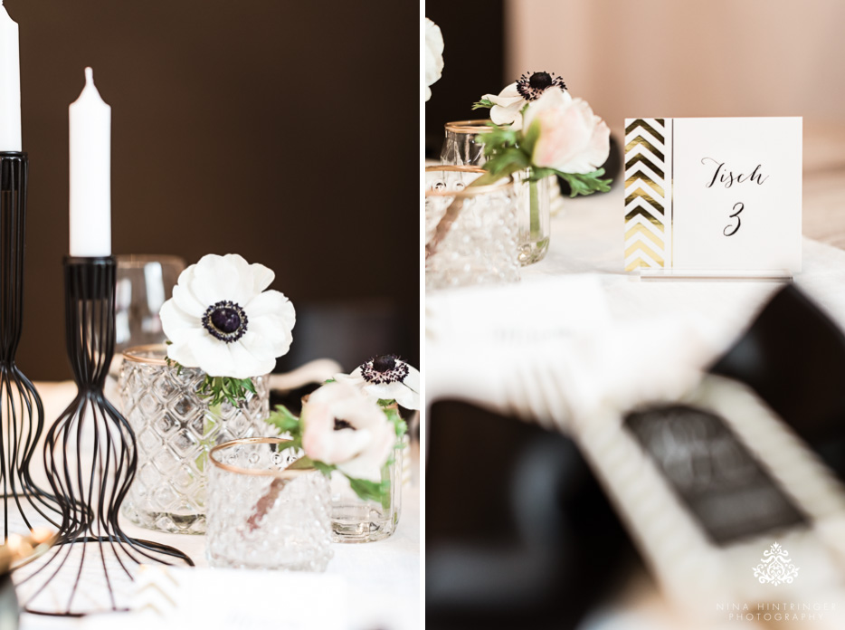 Hochzeitskarten Serie Gold & Schwarz Zick Zack - Dankeskarte.com