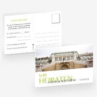 Antwortpostkarten für die Hochzeit