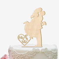 Cake Topper für die Hochzeitstorte aus Holz
