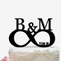 Individuell anpassbare Cake Topper für die Hochzeitstorte