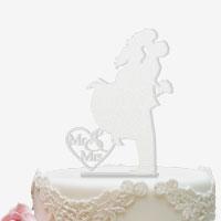 Cake Topper für die Hochzeitstorte satiniert