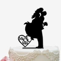 Cake Topper für die Hochzeitstorte in Schwarz
