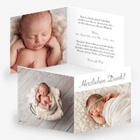 Geburtskarten mit vielen Bildern von eurem Baby