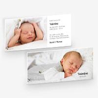 Schlichte und schöne Geburtskarten für euer Baby