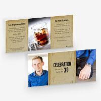 Einladungskarten zum Geburtstag, Jubiläum. 30er, 40er, 50er, 60er, 70er, 80er, 90er