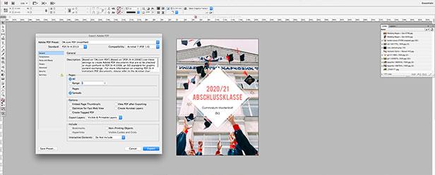 Druckdaten als PDF übergeben